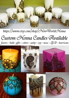 Custom Henna Candle Orders Do Not Buy This by NewWorldHenna, $20.00