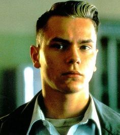 River Phoenix in Dogfight. Gah I love his long hair but his short hair is just yes ❤️