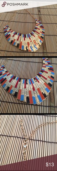 Colorful statement necklace. Bold and colorful statement necklace. Great with jeans. Jewelry Necklaces