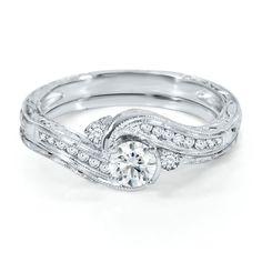 Helzberg Diamond Symphonies® 1/2 ct. tw. Diamond Engagement Ring Set in 14K Gold