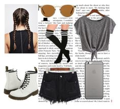 """""""Untitled #34"""" by blueocean09 ❤ liked on Polyvore featuring Dr. Martens, Oliver Peoples and Native Union"""