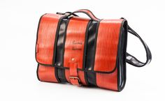 Messenger bag - handmade out of decommissioned fire hoses by HoseWear