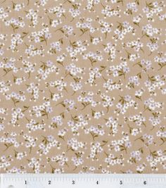 Keepsake Calico Fabric- Cherry Blossoms Brown & quilting fabric & kits at Joann.com