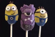 Minion despicable me Cake Pops on Etsy, $45.00 https://www.etsy.com/listing/159822064/18-despicable-me-cake-pops
