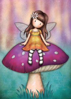 Cute Images, Cute Pictures, Bow Wallpaper, Santoro London, Illustration, Shell Crafts, Fairy Art, Cute Characters, Cute Dolls
