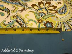 Addicted 2 Decorating » Lined Valance With Contrasting Fabric Band
