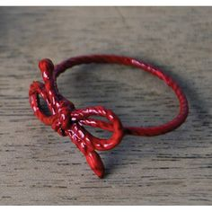 Kiel Mead, Red Powder Coat Forget Me Knot Ring
