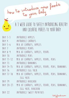 How to Introduce New Foods to Your Baby Baby FoodE organic baby food recipes to inspire adventurous eating Baby Food Guide, Baby Food Schedule, Food Baby, 6 Month Old Schedule, Baby Food Recipes Stage 1, Baby Feeding Schedule, Baby Toys, Baby Baby, Baby Sleep