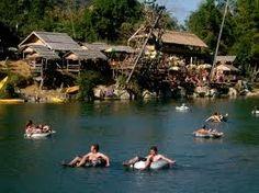Vang Vieng, Laos - Tubing