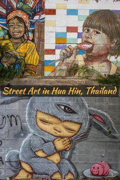 Finding street art in an abandoned building in Hua Hin, Thailand #streetart #thailand