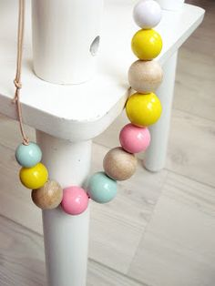 love beads, these pastel-ly pop colors.