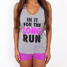 Before heading outside to enjoy a Spring run, toss on your In It For the Long Run tank ($25) for that extra motivation you need to pick up the pace.