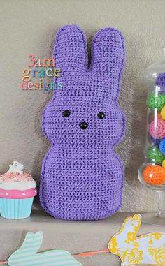 Crochet this Cute Cuddler Candy Bunny!