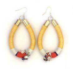 Statement Rope Earrings Dangle Earrings Color by KiaFilStudios, $33.00