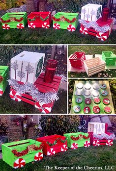 Christmas Decorations - DIY Christmas crate train craft for outside Christmas Train, Noel Christmas, Winter Christmas, Christmas 2019, Whoville Christmas, Christmas Yard Art, Christmas Vacation, Christmas Movies, Family Christmas