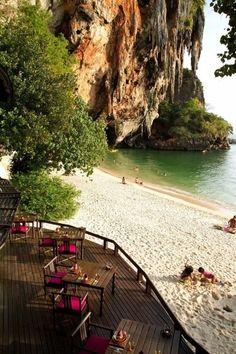 Relax On The Beach In Krabi, Thailand.