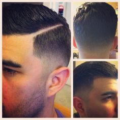 Fade.. Vintage hair cut. My work, razor part
