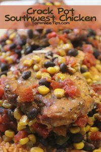 Avoid traditional chicken recipes with this slow-cooked southwest chicken recipe for All Day Southwest Chicken. Using pre-flavored chicken breasts makes this chicken dinner quick and easy to prepare, because all you have to do is simply assemble the ingredients in your slow cooker and let it simmer all day.