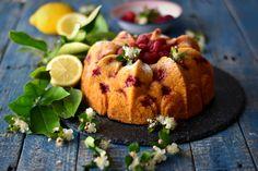 Spelt, Lemon and Raspberry Cake