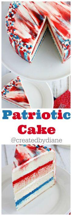 patriotic cake @createdbydiane