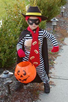 Kids sport homemade Halloween costumes