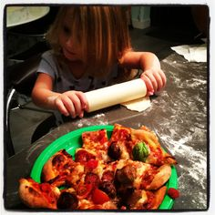 Pizza chloe rolling the dough