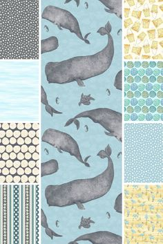 Barnacle Bay by Debi Hubbs for Studioe Fabrics | Click through to view the entire collection. Ships February 2016