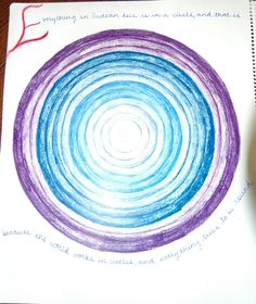Age 12 ~ Geometric Drawing ~ Concentric Circles ~ ~ main lesson book