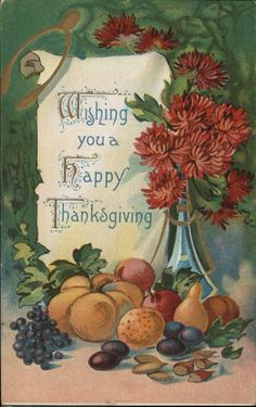💕🌈💗Wishing You a Happy Thanksgiving vintage printable postcard for de orating. Thanksgiving Greeting Cards, Thanksgiving Pictures, Thanksgiving Blessings, Vintage Thanksgiving, Happy Thanksgiving Day, Thanksgiving Quotes, Vintage Holiday, Vintage Fall, Thanksgiving Recipes