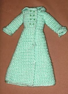 Barbie coats and jackets - free crochet pattern