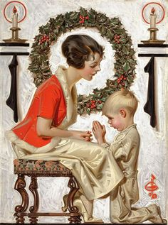 "Norman Rockwell ~ ""Christmas prayer"" * 1500 free paper dolls Christmas gifts artist Arielle Gabriels The International Paper Doll Society also free paper dolls The China Adventures of Arielle Gabriel * Christmas Prayer, Noel Christmas, Christmas Images, Vintage Christmas, Funny Christmas, Christmas Gifts, Childrens Christmas, Christmas Scenes, Norman Rockwell Christmas"