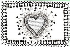 Valentine...would love to paint this in bright pretty colors on canvas!