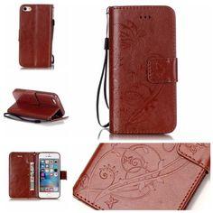 Köp Läderfodral Fjärilar Apple iPhone SE/5S/5 brun online: http://www.phonelife.se/laderfodral-fjarilar-apple-iphone-se-5s-5-brun
