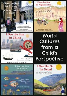 These bilingual picture books are authentic glimpses into life in countries and cultures that have been underrepresented in children's books. The detailed illustrations are unique collages of photographs, drawings, and fabric that depict contemporary life Esl, See The Sun, Mentor Texts, Thinking Day, Kids Writing, English, Children's Literature, Library Books, Science