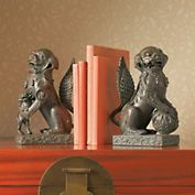Foo Dog bookends based on a pair at Frank Lloyd Wright Tailiesien.