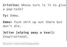 Seems like something Emma would say