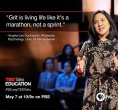 Angela Lee Duckworth talks about the importance of grit during TED Talks Education. Make sure to watch Tuesday, May 7 at 10/9c on PBS. Read lots more: http://www.ted.com/TEDTalksEd