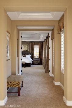 Sherwin Williams Latte - This is the color we are using in our livingroom/diningroom and we love it. The white trim really pops and it shows off wood beautifully. - Futura Home Decorating Living Room Paint, Living Room Colors, Style At Home, Sherwin Williams Latte, Wall Colors, House Colors, Tan Paint Colors, Deco Champetre, Basement Remodeling