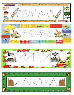 Fichas de trazos para repasar Fichas sencillas con trazos básicos para trabajar la grafomotricidad en Educación Infantil. Fichas de trazos Learning Tools, Early Learning, Kids Learning, Learning Shapes, Fine Motor Activities For Kids, Preschool Activities, Pre Writing, Writing Skills, Abc Tracing