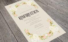 Konfirmation invitationer