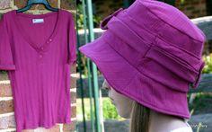 Joyfoolery: Tutorial: Ruffled Bucket Hat from a T-shirt