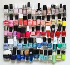 The best new nail polish colors and trends plus gel manicures, ombre nails, and nail art ideas to try. Get tips on how to give yourself a manicure and. New Nail Polish, Nail Polish Designs, Nail Polish Colors, Spring Nail Colors, Spring Nails, Dior, Chanel, Manicure Gel, Nail Polishes