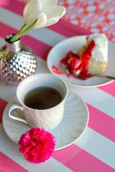 Decoração de xícara de chá.