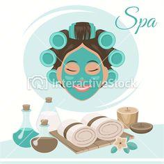 Urodowe ilustracje #domowe #spa #pachnidła #kosmetyki #zdrowie #uroda #interactivestock #grafika