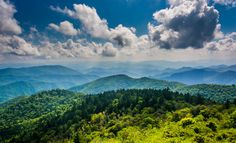 View of the Blue Ridge Mountains seen from the Blue Ridge Parkway in North Carolina.  - Photography Fine Art Print or Wrapped Canvas (7.00 USD) by JonBilousPhotography