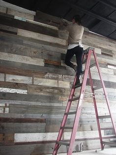 reclaimed wood wall love the way it looks very rustic