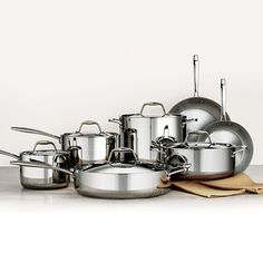 Member's Mark Tri-Ply Clad Stainless-Steel 12-Piece Cookware Set