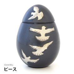 仏壇に入れられる分骨用ミニ骨壷・グランブルーピース
