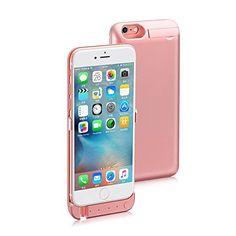 iPhone 6Plus6s Plus 55inch Battery Case Apatner Ultra Thin 8200mAH Power Bank Charging Case with Builtin Kickstand USB Port Lightning InputPink -- See this great product.