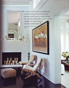 loving white walls with dark wood floor!